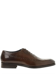 Gianni Russo Perforated Leather Oxford Lace Up Shoes