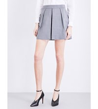 Claudie Pierlot Energy Pleated Woven Shorts Anthracite