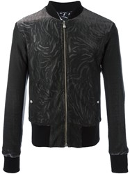 Versus Printed Bomber Jacket Black