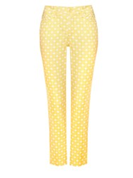 Nydj Ankle Trousers Yellow