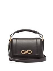 Anya Hindmarch Rope Bow Mini Leather Handbag Black