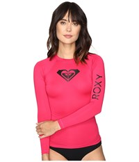 Roxy Whole Hearted Long Sleeve Rashguard Cherry Women's Swimwear Red