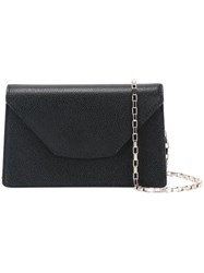 Valextra Mini 'Iside Chain' Crossbody Bag Black