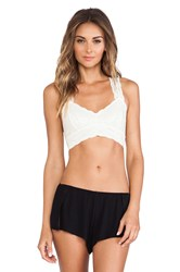 Free People Racerback Crop Bra Ivory