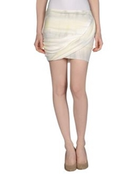 By Zoe Mini Skirts Ivory