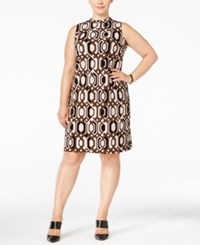 Inc International Concepts Plus Size Printed Shift Dress Only At Macy's Rawhide