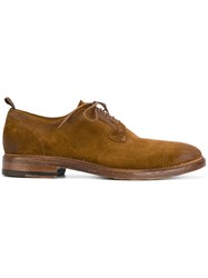N.D.C. Made By Hand Classic Derby Shoes Leather Suede Rubber Brown