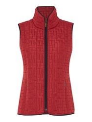 Tigi Check Quilt Gilet Red