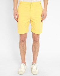 M.Studio Yellow Paul Fitted Cotton Shorts