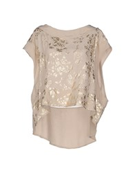 Uniqueness Shirts Blouses Women Beige