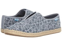Toms Palmera Slip On Navy Ditsy Floral Women's Flat Shoes Blue