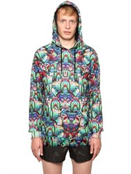 Marcelo Burlon Hooded Jungle Fleece Sweatshirt