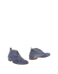 Tremp Ankle Boots Slate Blue