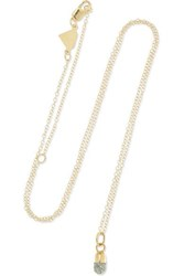 Alison Lou Pill 14 Karat Gold And Glittered Enamel Necklace