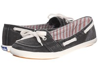 Keds Teacup Boat Seasonal Solid Charcoal Women's Lace Up Casual Shoes Gray