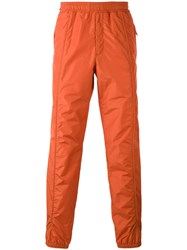 Versus Track Pants Men Cotton Polyester 50 Yellow Orange