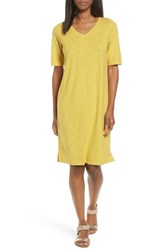 Eileen Fisher Women's Hemp And Organic Cotton Shift Dress Papyrus
