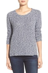 Splendid Metallic Marled Crewneck Sweater Blue