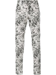 Gucci Tailored Floral Print Trousers White