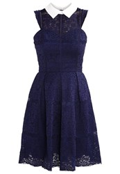 Chi Chi London Therese Cocktail Dress Party Dress Navy Dark Blue