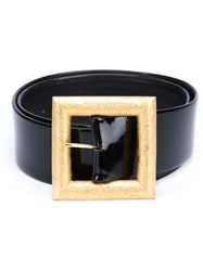 Chanel Vintage Large Buckle Belt Black