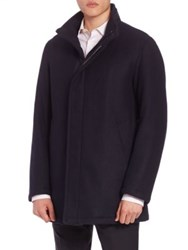 Sanyo Water Repellent Wool Coat Midnight Moss