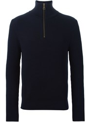 Ami Alexandre Mattiussi Zipped Sweater Blue