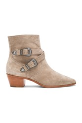 Frye Ellen Buckle Short Bootie Gray