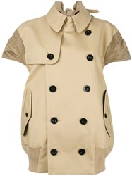 Sacai Trench Jacket Nude Neutrals