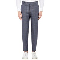 Brooklyn Tailors Men's Unstructured Trousers Blue Grey Blue Grey