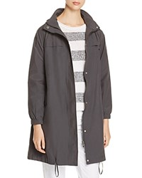 Eileen Fisher Hooded Stand Collar Jacket Graphite