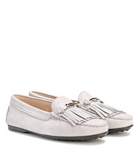 Tod's Suede Moccasins Grey