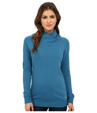 Burton Her Logo Mock Neck Pullover Pacifico Women's Sweatshirt Blue