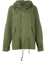Mr And Mrs Italy Slim Fit Hooded Short Parka Green