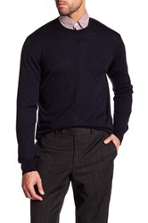 Gant Light Weight Crew Neck Merino Wool Sweater Blue