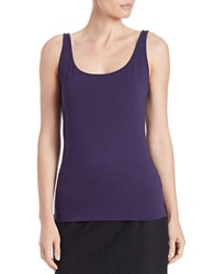 Lord And Taylor Stretch Roundneck Tank Evening Blue