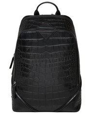 Mcm Medium Luxus Embossed Leather Backpack
