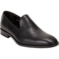 Barneys New York Plain Toe Venetian Loafers Black