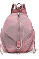 Rebecca Minkoff Woman Convertible Leather Trimmed Shell Backpack Bubblegum