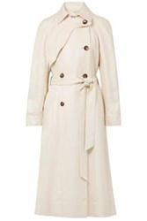 Elizabeth And James Twill Trench Coat Beige