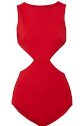 Rick Owens Cutout Swimsuit Red