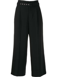 Red Valentino Tailored Cropped Trousers Black