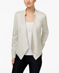 Inc International Concepts Draped Faux Suede Jacket Only At Macy's Toad Beige