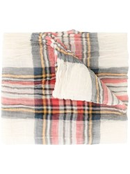 Forme D'expression Keith Tartan Scarf Brown
