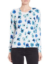Lord And Taylor Petite Floral Print Cotton Modal Cardigan Sea Breeze