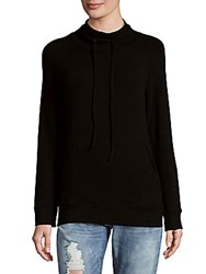 Monrow Cowlneck Pullover Black