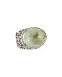 Konstantino Sterling Silver Snake And Green Amethyst Ring Size 7