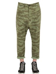 Golden Goose Camouflage Printed Cotton Pants