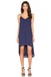 Bella Dahl High Low Hem Dress Navy