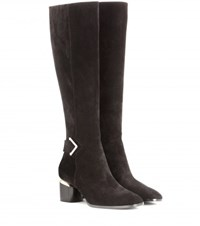 Nicholas Kirkwood Brannagh Suede Knee High Boots Black